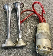 FIAMM AIR HORNS & ROAD MASTER COMPRESSOR MC/2 I FERRARI 246 275 LAMBORGHINI