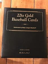 1996 Danbury Mint Card Binder with 28 o f 50 22kt Gold Baseball Cards