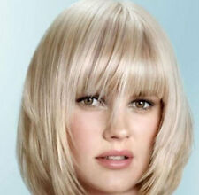 LMRA765  charming short blonde straight hair wigs for women wig