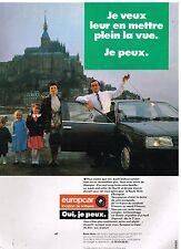 Publicité Advertising 1987 Location de voiture Europcar