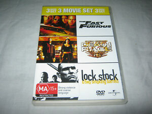 The Fast and the Furious + Death Race + Lock Stock - VGC - DVD - R4