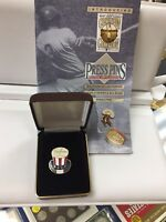 1952 New York Yankees World Series Press Pin Balfour Box COA & Papers