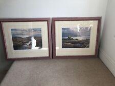 James D Preston Pair of Limited Edition Signed Prints Framed & Glazed Derbyshire