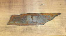 6 Inch Tennessee State Tn Shape Rough Rusty Metal Vintage Stencil Ornament