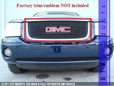 GTG 2001 - 2009 GMC Envoy 1PC Gloss Black Upper Overlay Billet Grille Grill
