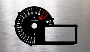 Suzuki GSXR 600 750 K2 Tachoscheiben Tacho Gauge dial plate Drehzahlmesser black