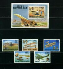 HISTORY OF AVIATION ,-DORNIER,-ADER,- WRIGTH,-BROWN-   CENTRAL AFRICAN REP. 1978