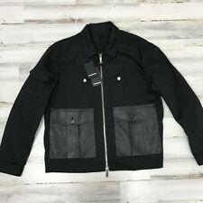 $1535 AUTHENTIC DSQUARED2 FW20 Thin Bomber Jacket W leather pockets SZ XXL 54