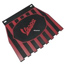Fits Vespa Rear Striped Mudflap Cherry & Black Stripes CAD