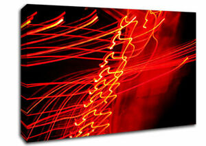Red Distraction Abstract 00484 Canvas Print Wall Art