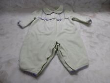 Baby Girl 3 Months Talbots Green Purple Lamb Sheep Long Sleeve Snap Outfit
