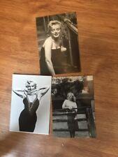 3 Unused Marilyn Monroe postcards