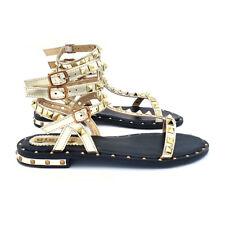 Sandalo Da Donna In Oro Tomaia Con Decoro - GC63 ORO