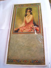 "Exquisite 1926 Mexican Art Print of ""Juanita"" from a Painting by Chambers *"