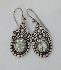 Gems TV Green Amethyst Sterling Silver Earrings