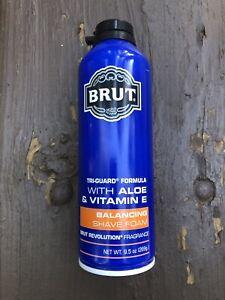 Brut Balancing Shave Foam With Aloe & Vitamin E Tri-Guard Formula 9.5 Oz New