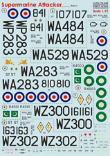 Print Scale 72-345 Supermarine Attaker Part-1 model (Aircraft wet decal)