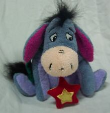"Disney Store Winnie the Pooh SOFT HOLIDAY EEYORE 6"" Plush STUFFED ANIMAL Toy"