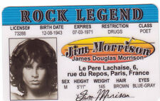 Jim Morrison the DOORS Come on Baby Light My Fire Drivers License ID card