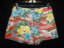 STREET FLOWER Vtg 1990s Hawaiian floral aloha print board short surf XS 7