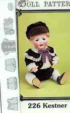 "16-19""ANTIQUE BABY/TODDLER KESTNER BOY DOLL PANTS JACKET HAT/CAP VINTAGE PATTERN"