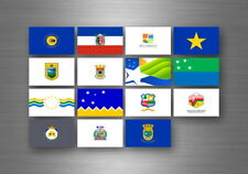 Flag sheet sticker labels country subdivisions states province  chile