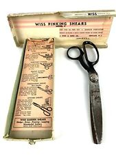 Vintage 1950 Wiss Pink-Rite Model C Pinking Shears Scissors Sewing Tools