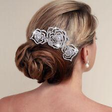 Juliet Rose Bridal Wedding Crystal Rhinestones Diamante Vintage Hair Comb Clip