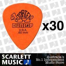30 x Jim Dunlop Standard Tortex .60mm Orange Picks Plectrums .60 *THIRTY PICKS*