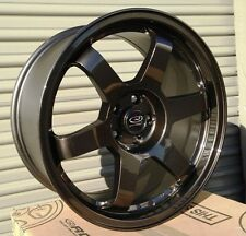 17X8.0 ROTA GRID RACING WHEELS 5X100 RIMS ET44MM GUN METAL COLOR (SET OF 4 )