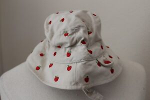 Baby Gap Bucket Hat Infant Toddler 6-12 Months 100% Cotton Double Side Red Apple