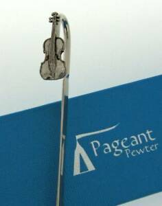Violin Silver Pewter Bookmark With Gift Box - Perfect Gift Idea