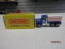 VINTAGE MATCHBOX PETERBILT TANKER #56 BLUE IN THE BOX