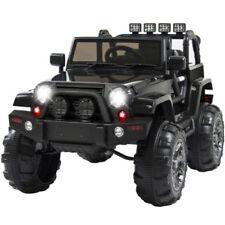 NEW 12V Kids Ride On Kid Car Truck Remote Control 3 Speed LED Light, Music Black
