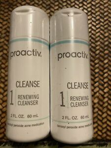 Lot/Set of 2-2 oz each PROACTIV Renewing Cleanser Cleanse Wash Step 1 EXP 8/21
