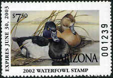 ARIZONA #16 2002 STATE DUCK RING NECKED DUCKS  by Sherrie Russell Meline