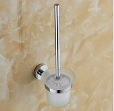 wall mount Bathroom Accessories Toilet Brush set Stainless Steel +Glass Kits