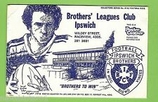 #D237.  BROTHERS IPSWICH   RUGBY LEAGUE CLUB  DRINK  COASTER POSTCARD