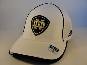 Notre Dame Irish NCAA Adidas Flex Hat Cap White Navy
