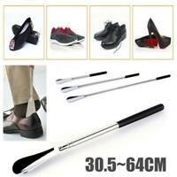 """Extra Long Handle Shoe Horn Stainless Steel 25"""" Handled Metal Shoehorn Horns New"""