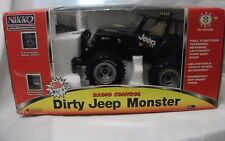 NEW BLACK NIKKO DIRTY JEEP MONSTER  SIZE 1:18 RADIO CONTROL 27 MHz