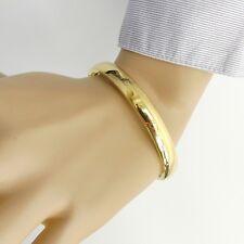 Klassischer goldener ovaler Damen Edelstahl Armreif Edelstahlarmreif Farbe gold