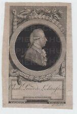 Kupferstich und Mezzotinto Portrait Karl Prinz von Liechtenstein L?schenkohl sc