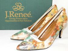 36bc798a4e1 Womens Size 8 J Renee Rivka Neutral Pebble Floral PUMPS HEELS Shoes Wedding