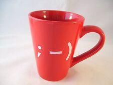 Dat'l Do It Red Emoticon Emoji Wink Tall Latte Coffee Mug Large Ddi Stoneware
