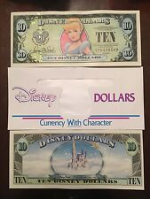 DISNEY DOLLARS $10 - 1987-2007 CINDERELLA 20th ANNIVERSARY - 1 Bill & 1 Envelope