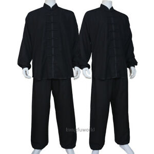 Soft Cotton Blends Tai chi Uniform Kung fu Martial arts Wing Chun Suit 4 Colors