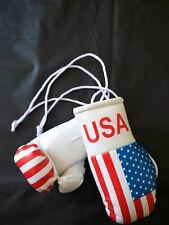 USA Flag Mini Boxing Gloves for Car Truck Bus Jeep SUV RV Decor RearView
