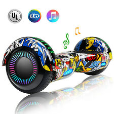 6.5'' Hoverboard Bluetooth Speaker Led Flashing Wheel Ul Listed Electric Scooter