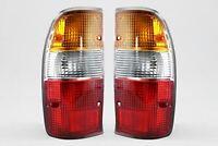 Mazda B2500 98-05 Rear Tail Lights Lamps Pair Set Driver Passenger With Bulbs